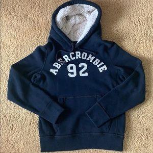 Abercrombie fur hoodie sweatshirt (S)
